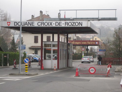 Franco-Swiss border today